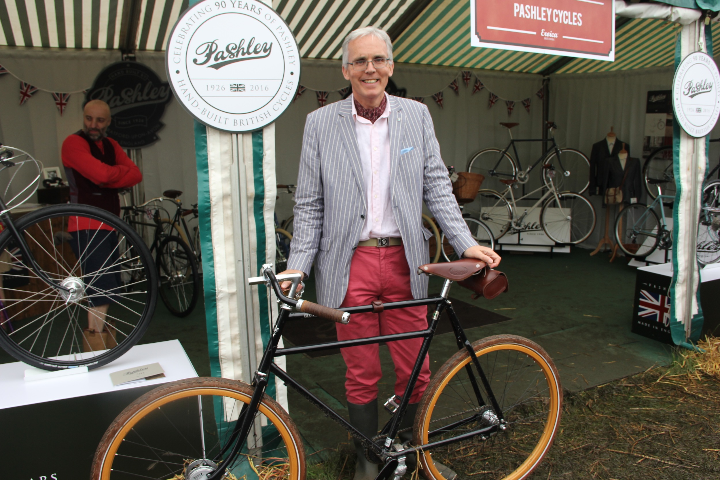 Adrian Williams MD of Pashley cycles and hero of the Guvnors' Assembly