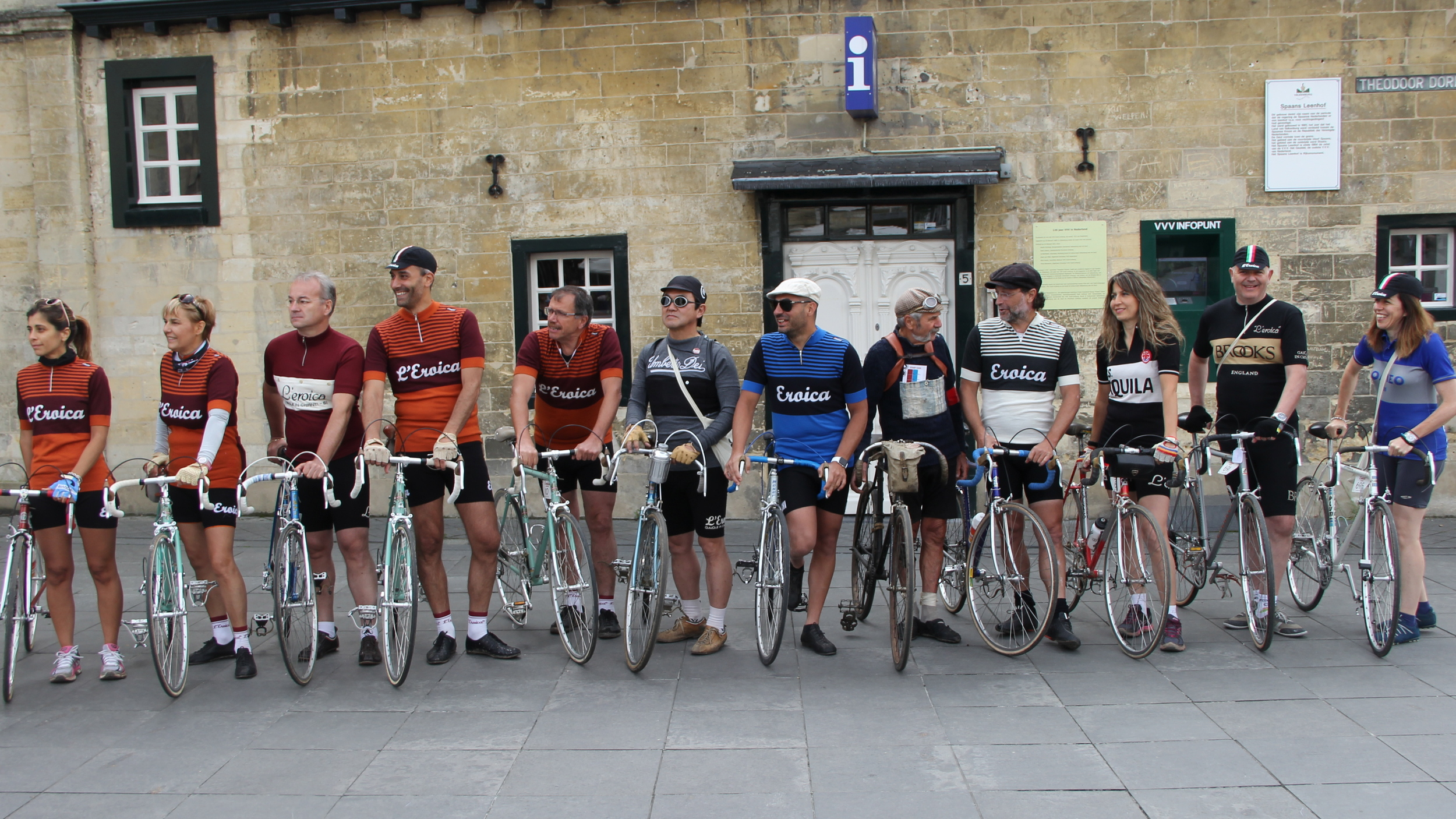 The Eroica team pose for pictures
