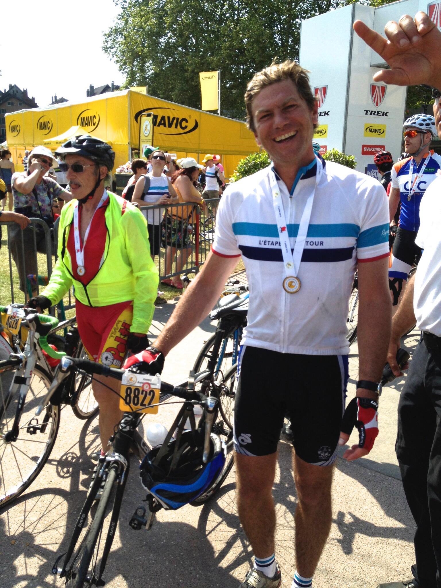 Elation on completing the 2013 L'Etape du Tour in Annecy