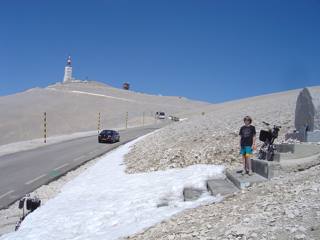 Tom Simpson's memorial 1.5km from the summit