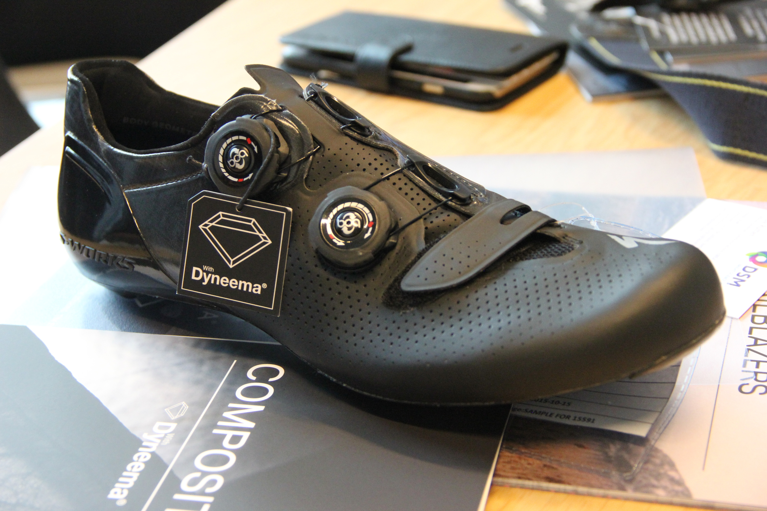 Dyneema have developed a racing shoe in partnership with Specialized