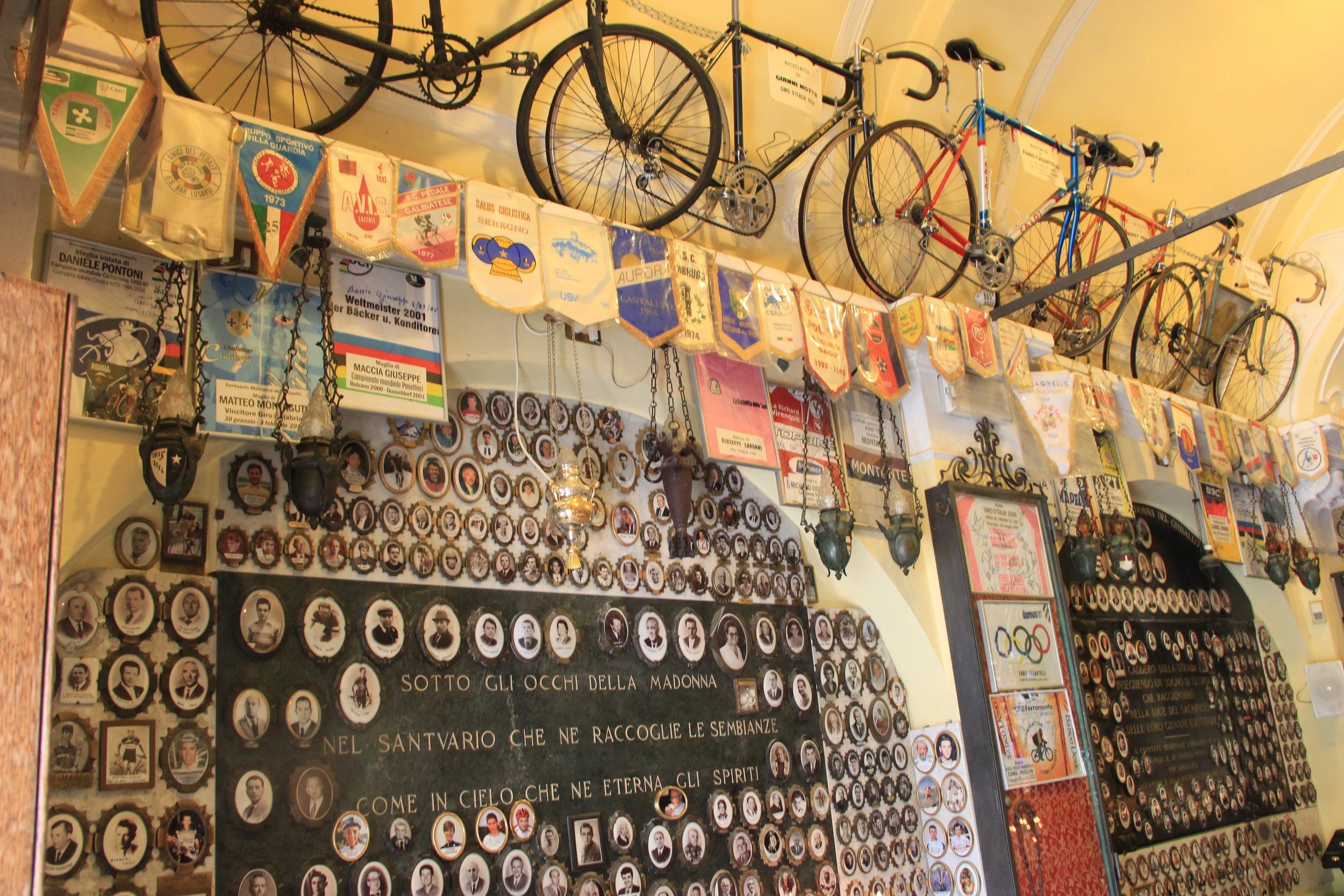 Inside the madonna del Ghisallo