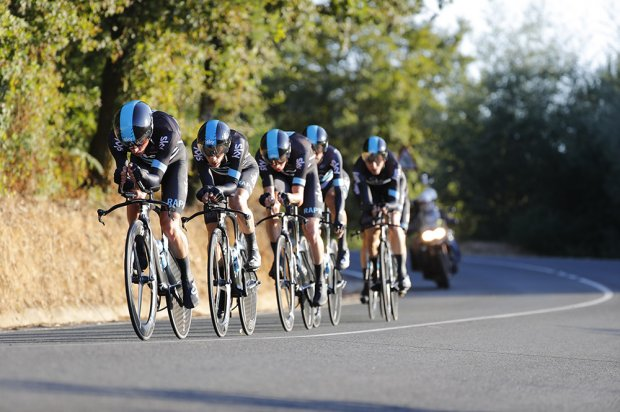 Team Sky won yesterday's Team Time Trial