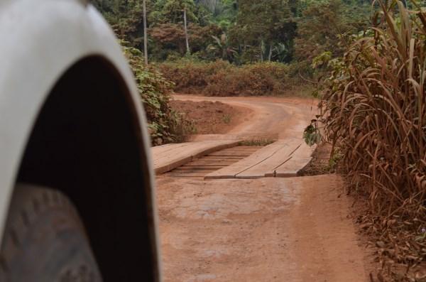 Beast tackles a dirt road