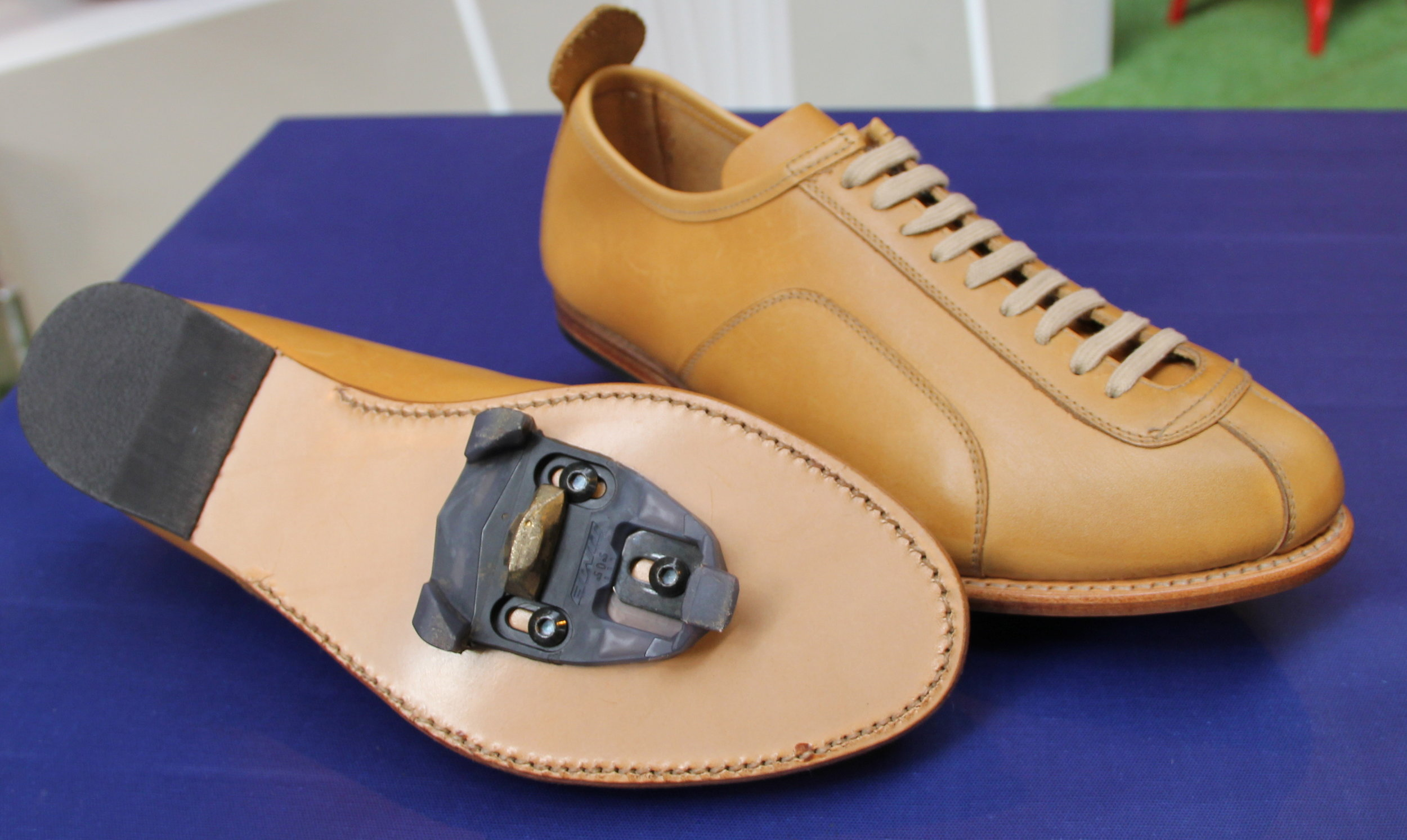 The first ever Goodyear Welted bench-made road shoe with cleats
