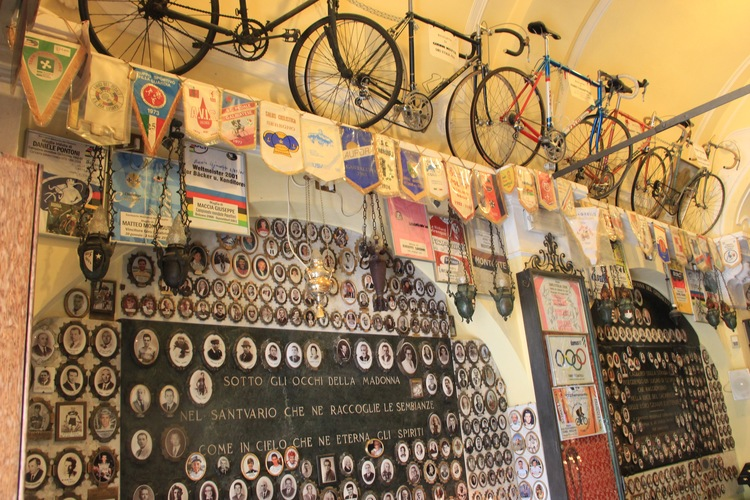 Madonna del Ghisallo, a place of pilgrimage for cyclists