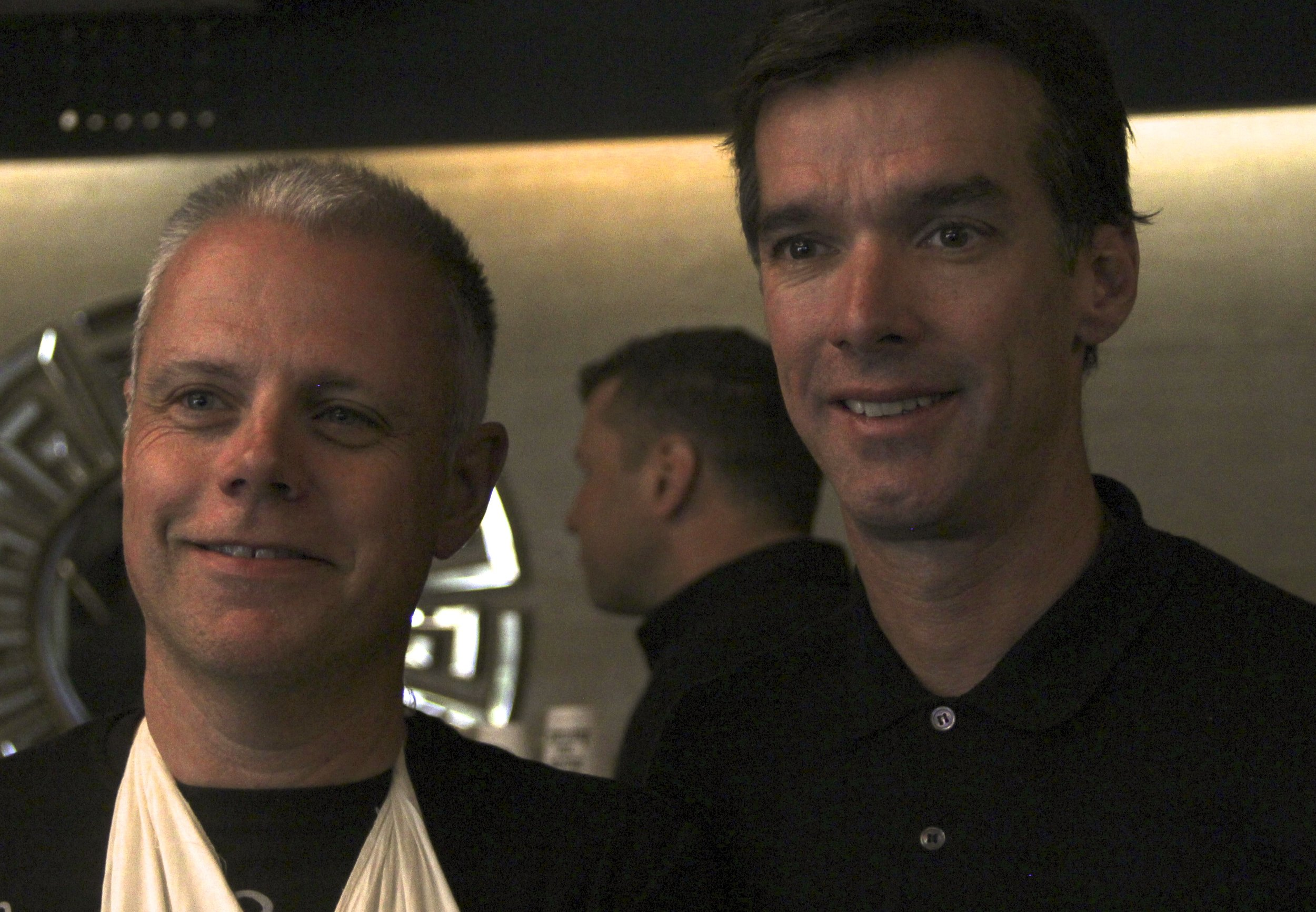 David Millar, comfortably ensconsed in the Maserati Lounge, rubs shoulders with the public