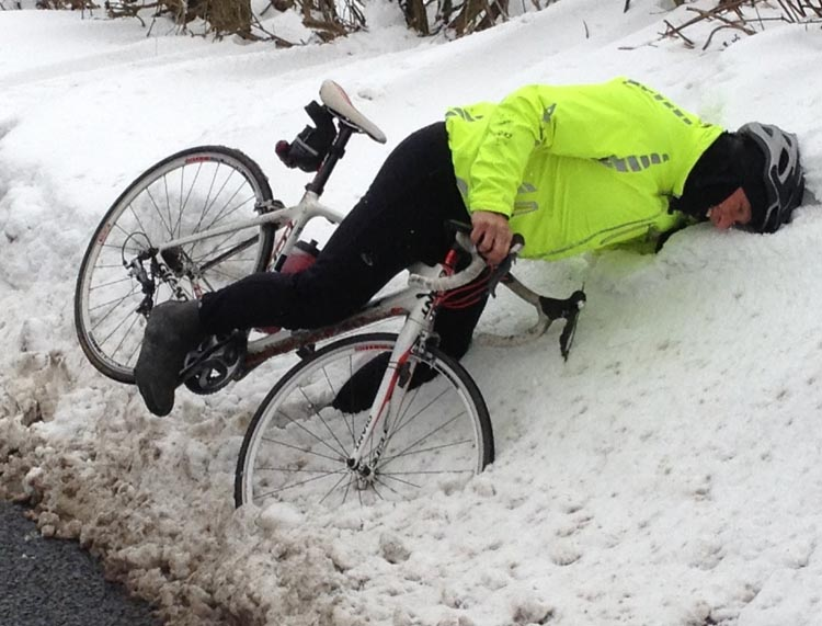 Winter cycling can be tough going  - photo courtesy of averagejoecyclist.com