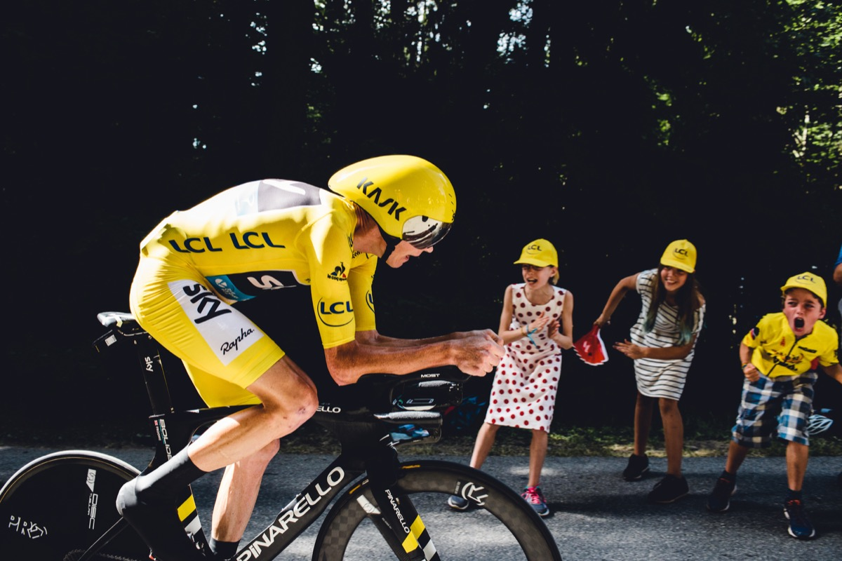 Jack Chevell captured Froome and supporters at the Tour's Time Trial