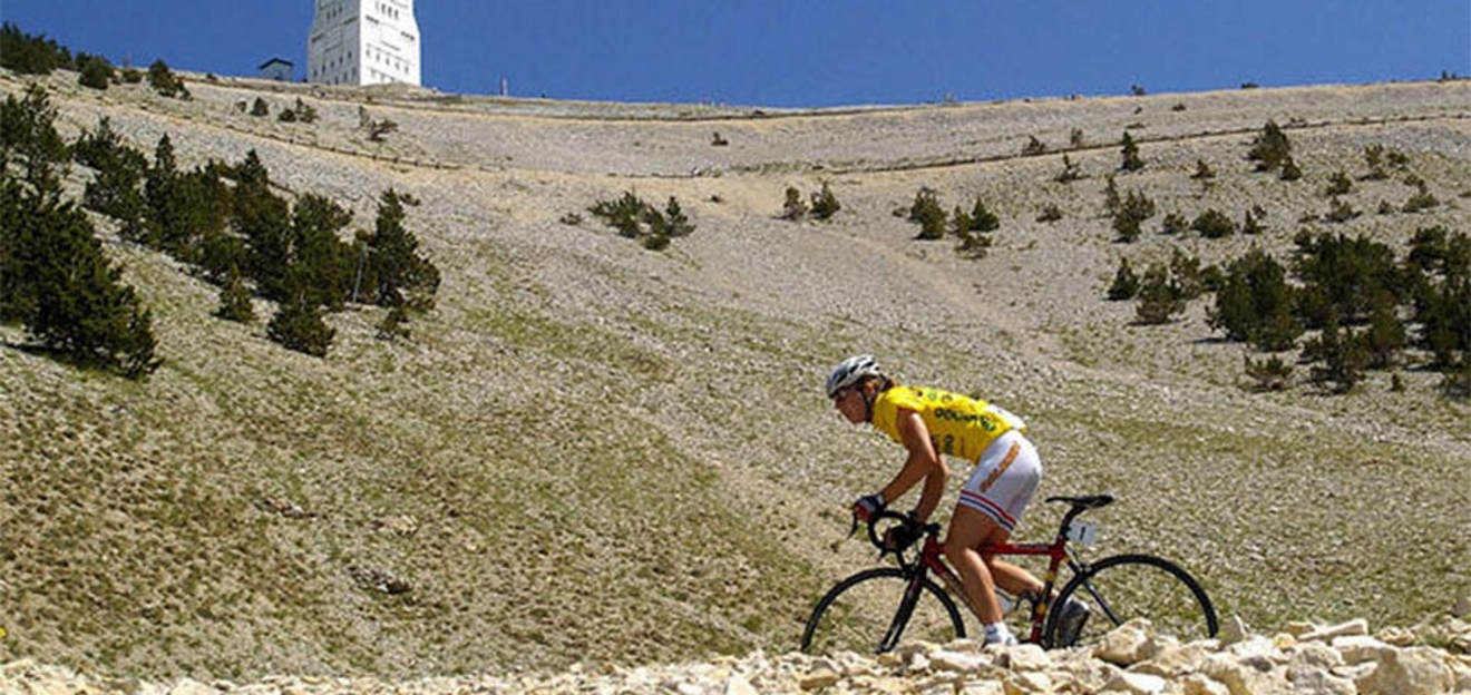 Nicole Cooke on Mont Ventoux
