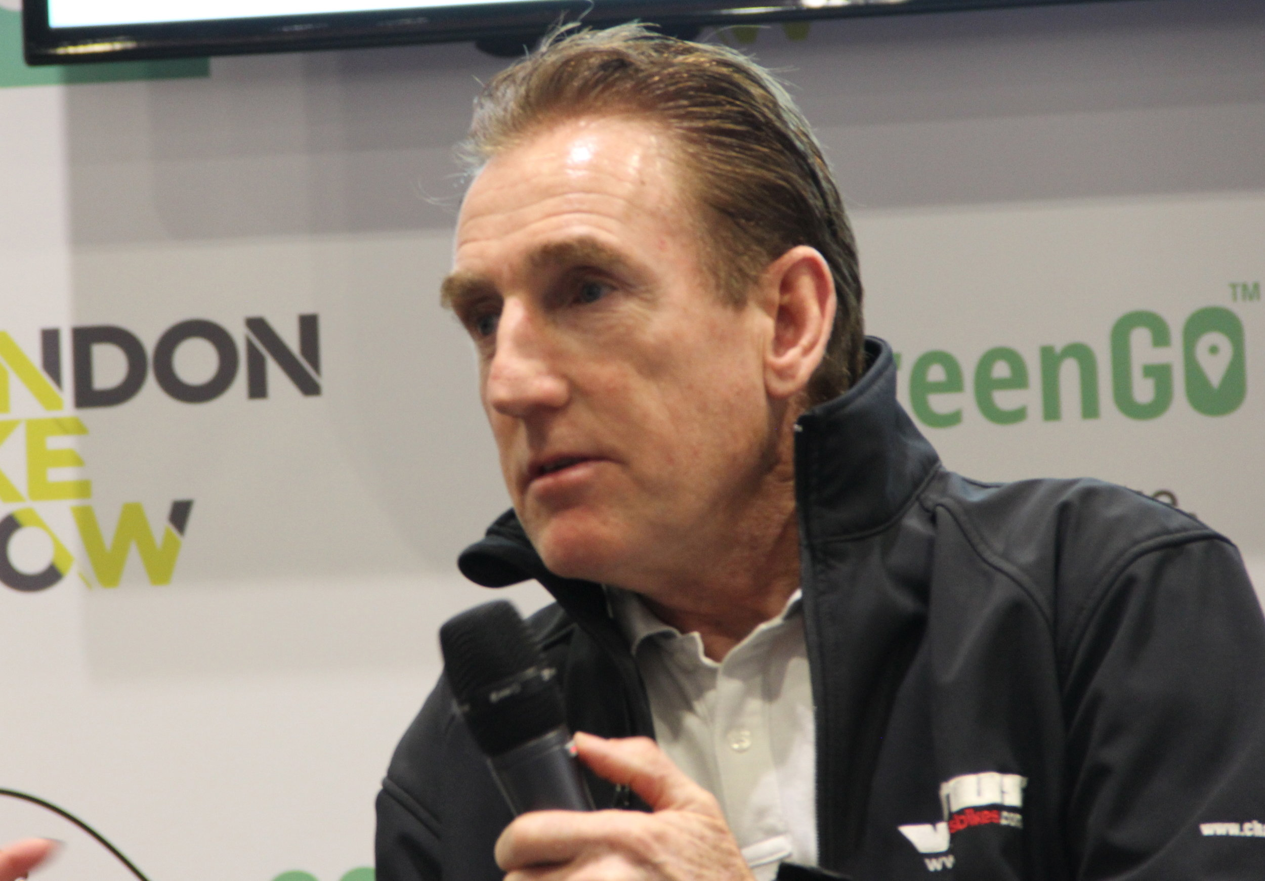 Sean Kelly at the London Bike Show