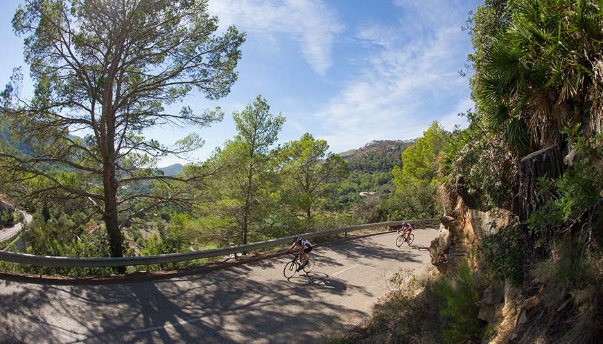 One of the beautiful rides in Mallorca