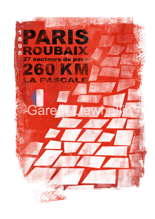 Gareth Llewhellin's  Roubaix limited edition print is available form the  Ride Velo shop