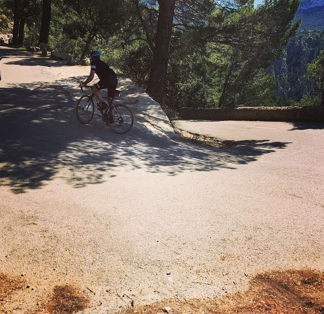 The climb from Port de Valldemossa