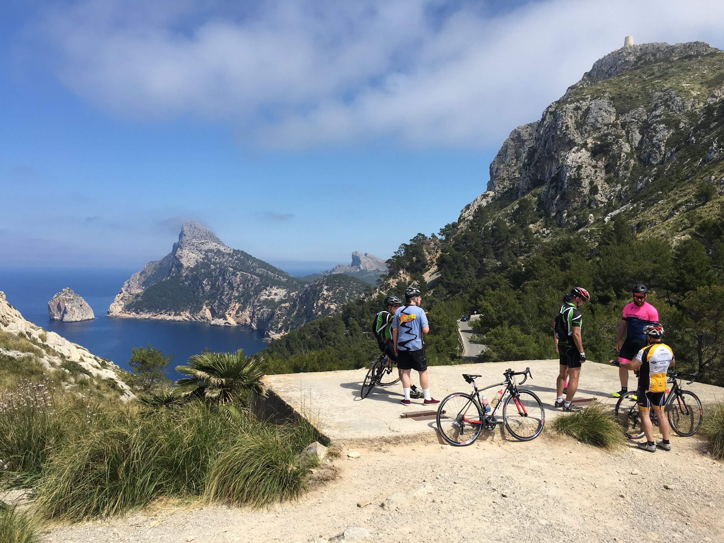 Pollensa and the north coast is awash with cyclists from northern Europe