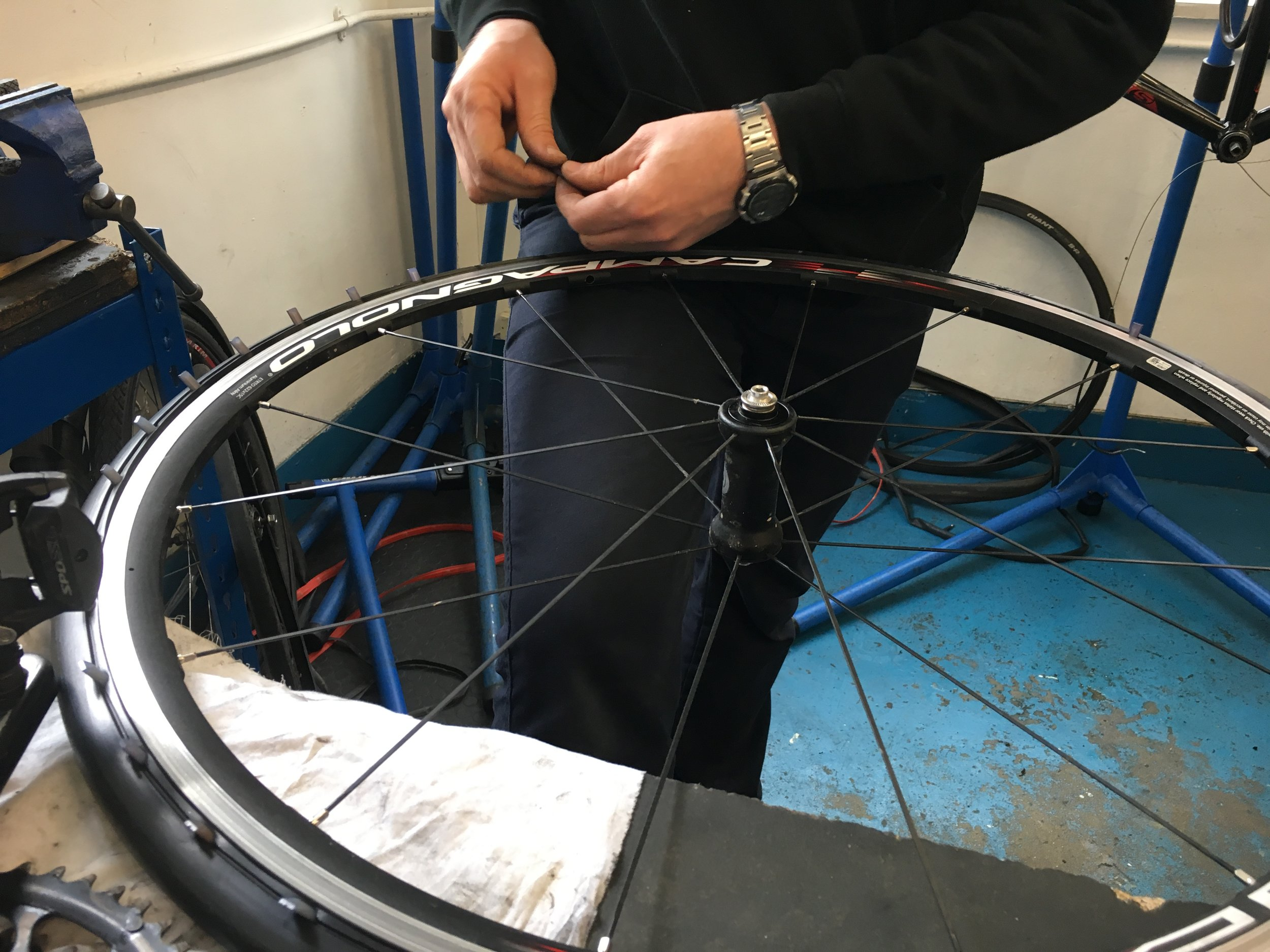 F itting the tyres to my lovely wheels was a bit alarming
