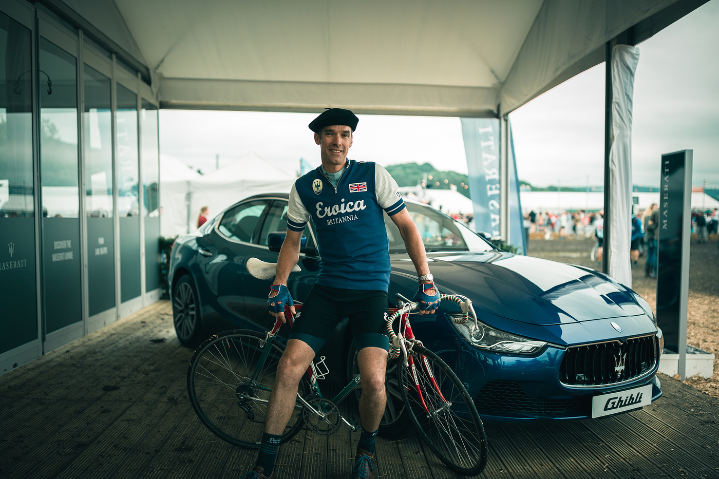 """I'm a big hat man."" David Millar at Eroica Britannia 2016"
