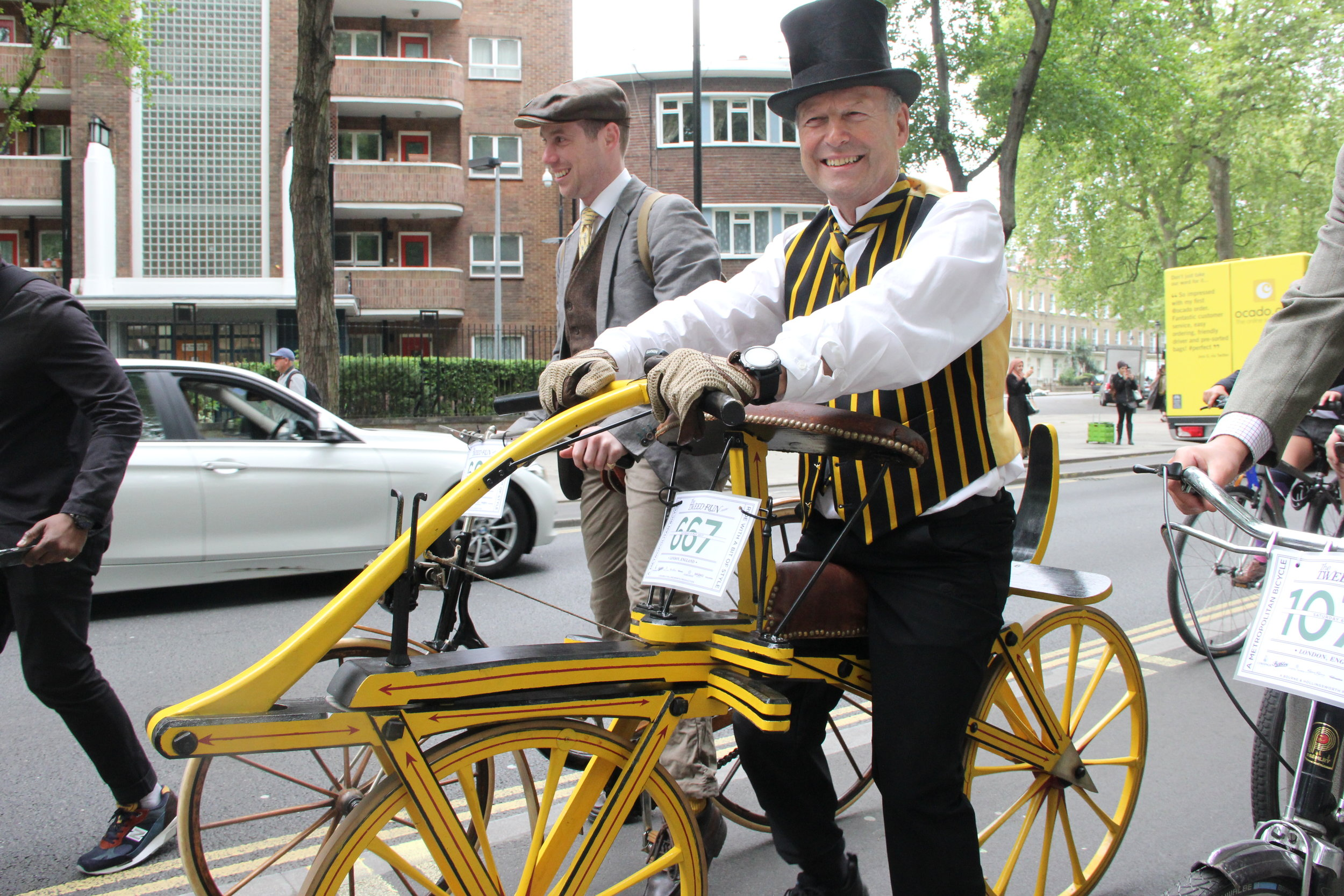 A replica of the 'dandy horse' at this year's Tweed Run