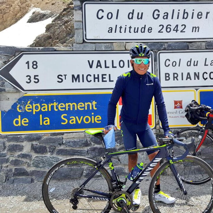 Nairo Quintana on a recce of one this year's mountain stages