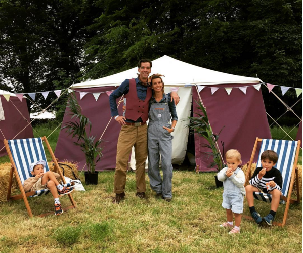 Millar and family under canvas (photo courtesy of Millarmind Instagram)