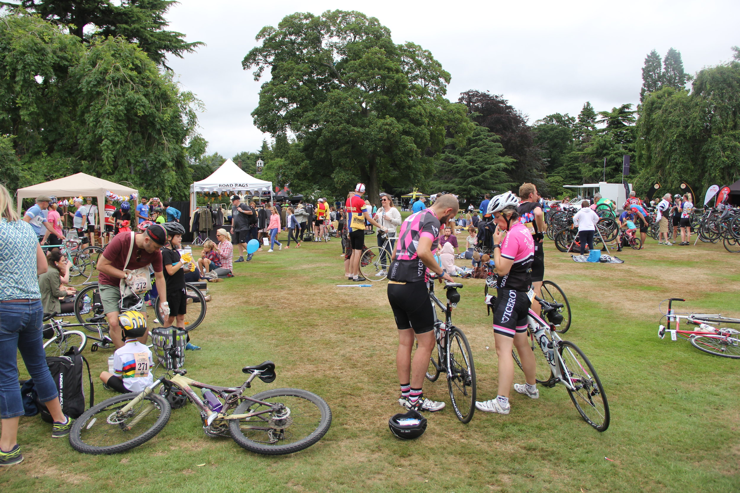 Stalls, food and drink, entertainment, the Tour de France...what more could you want?