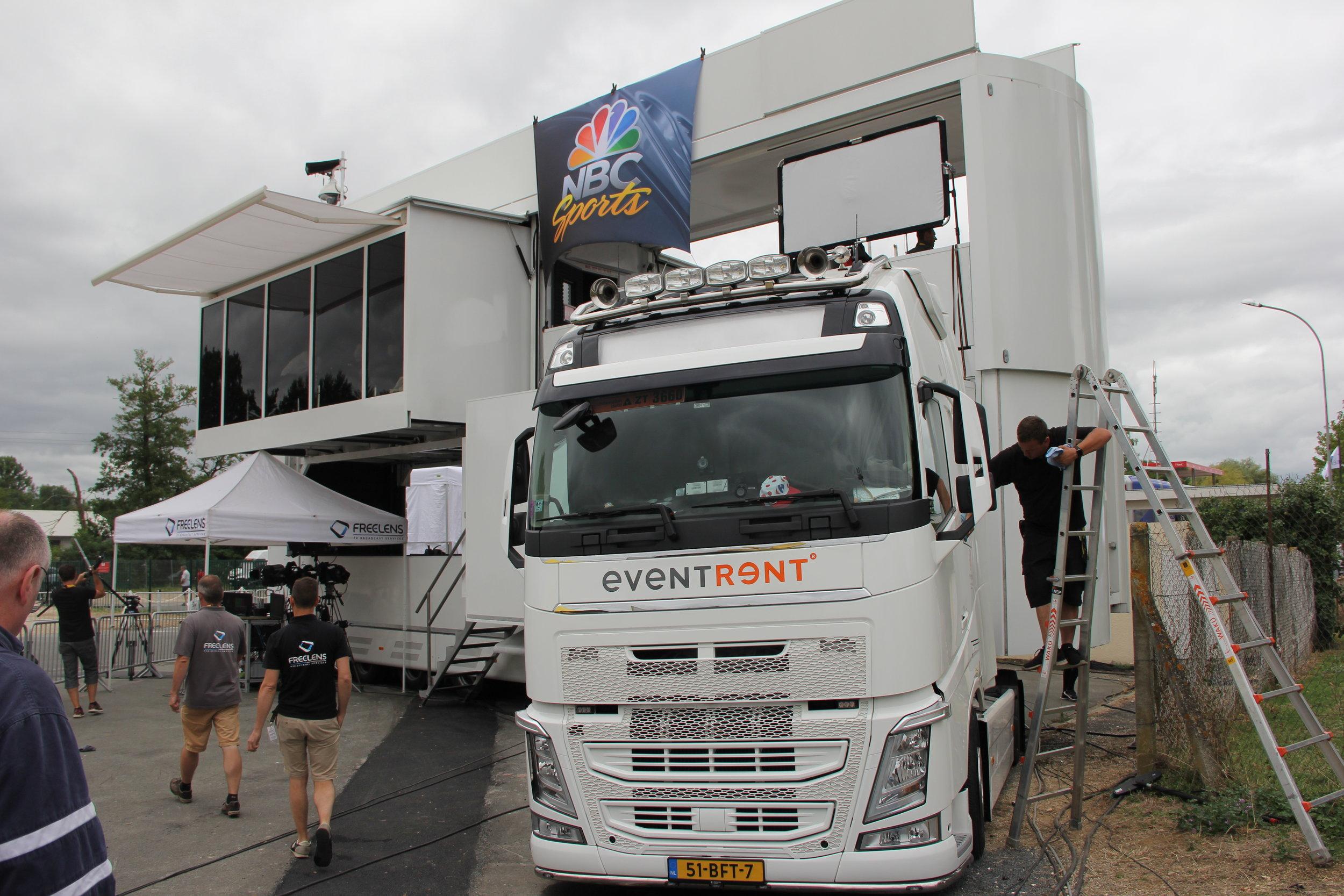 The NBC monster truck/studio