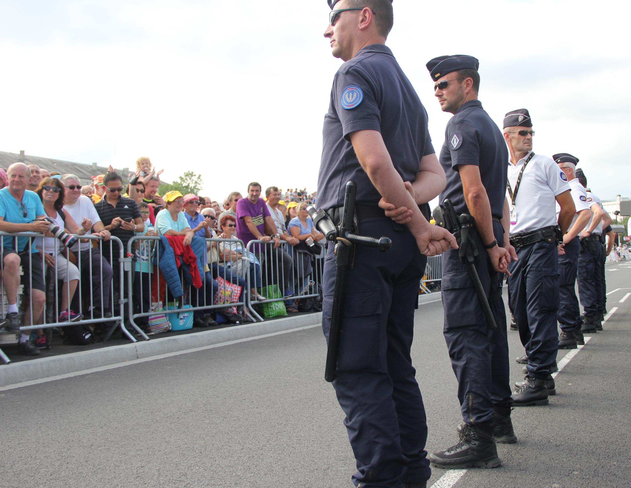 The spectators wait expectantly