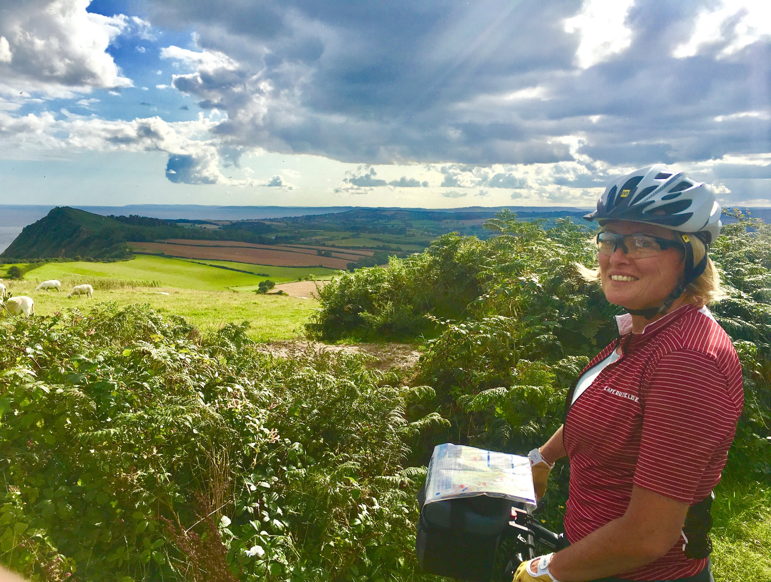 Map-tastic at the top of Peak Hill, Sidmouth