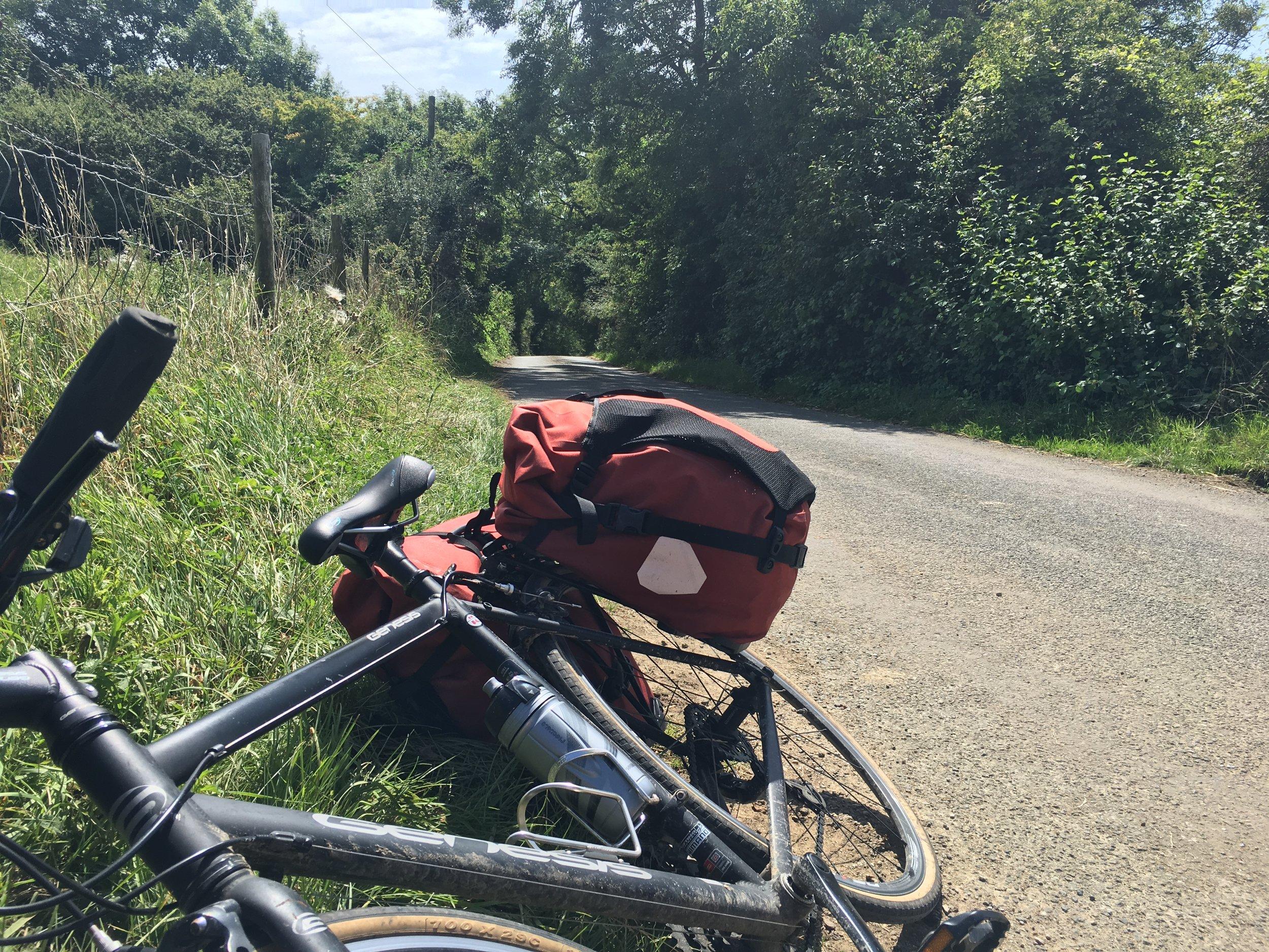 Rider and bike take a break