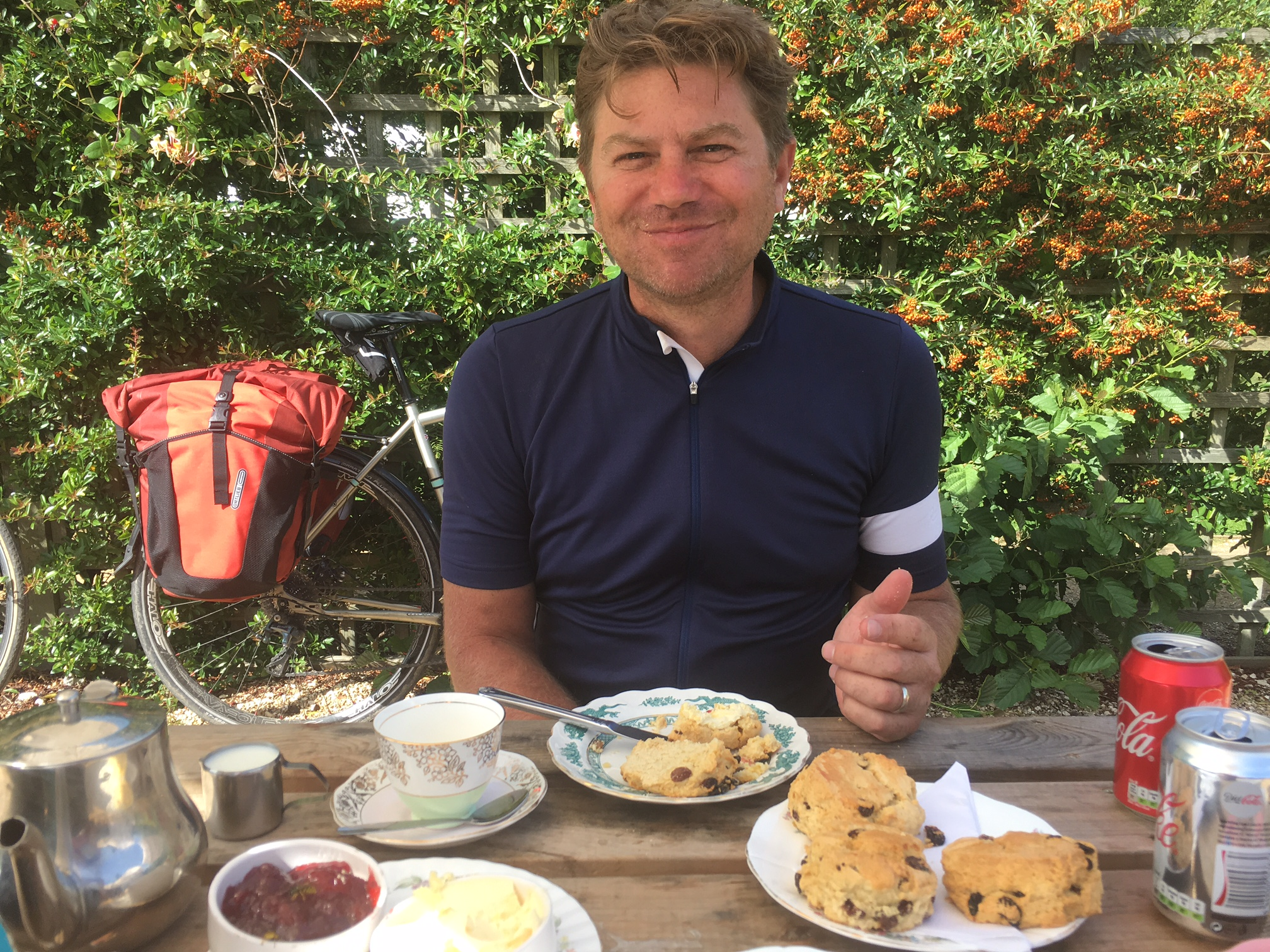 Dorset cream tea as recommended by the Dorchester Cycling Club