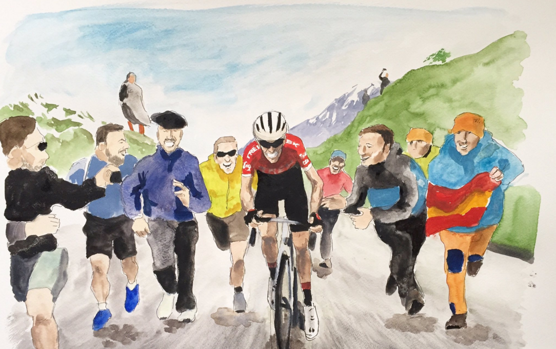 Fans as well as riders bring the paintings to life