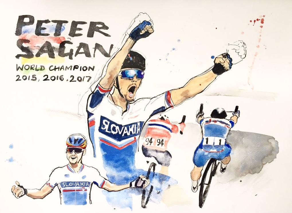 Sagan's historic third consecutive World Championship Victory