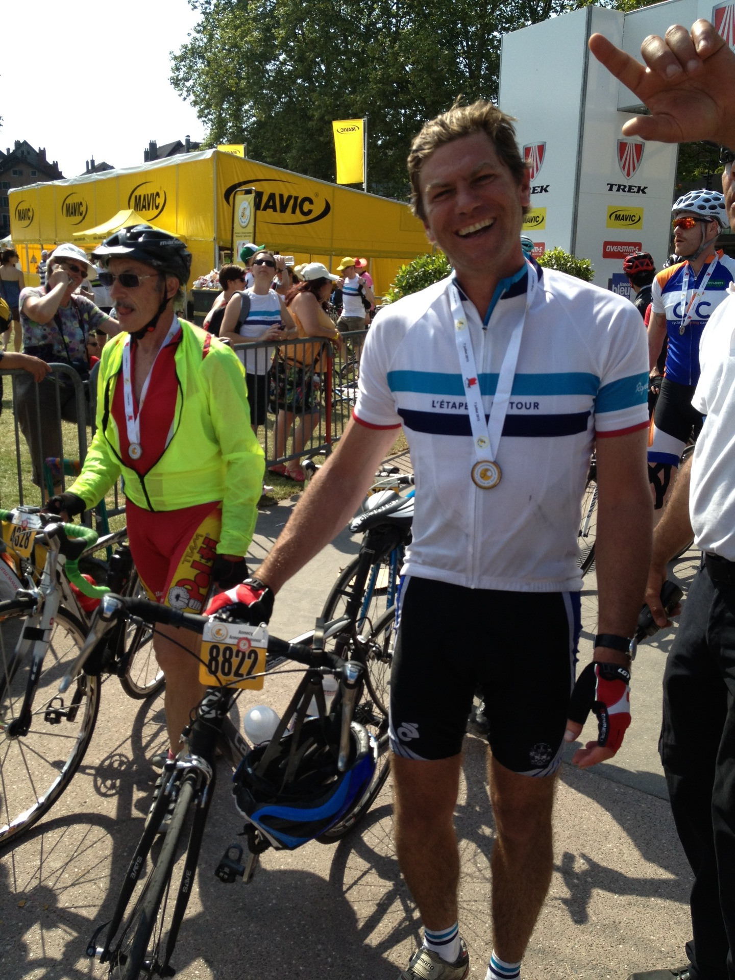 Finishing the Etape in 2013