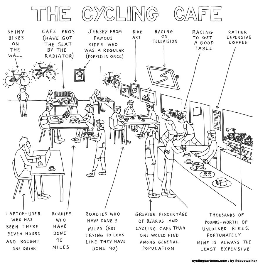 Dave Walker cycling cartoonist