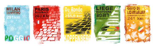 Gareth Llewhellin's Monuments print collection is available at the  Ride Velo Shop