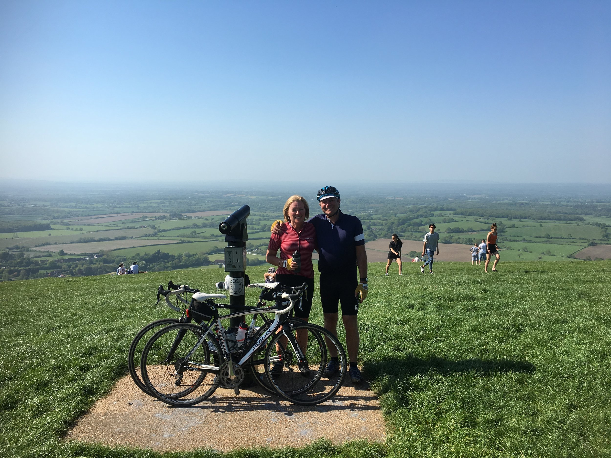 Feeling on top of the world with my favourite bike