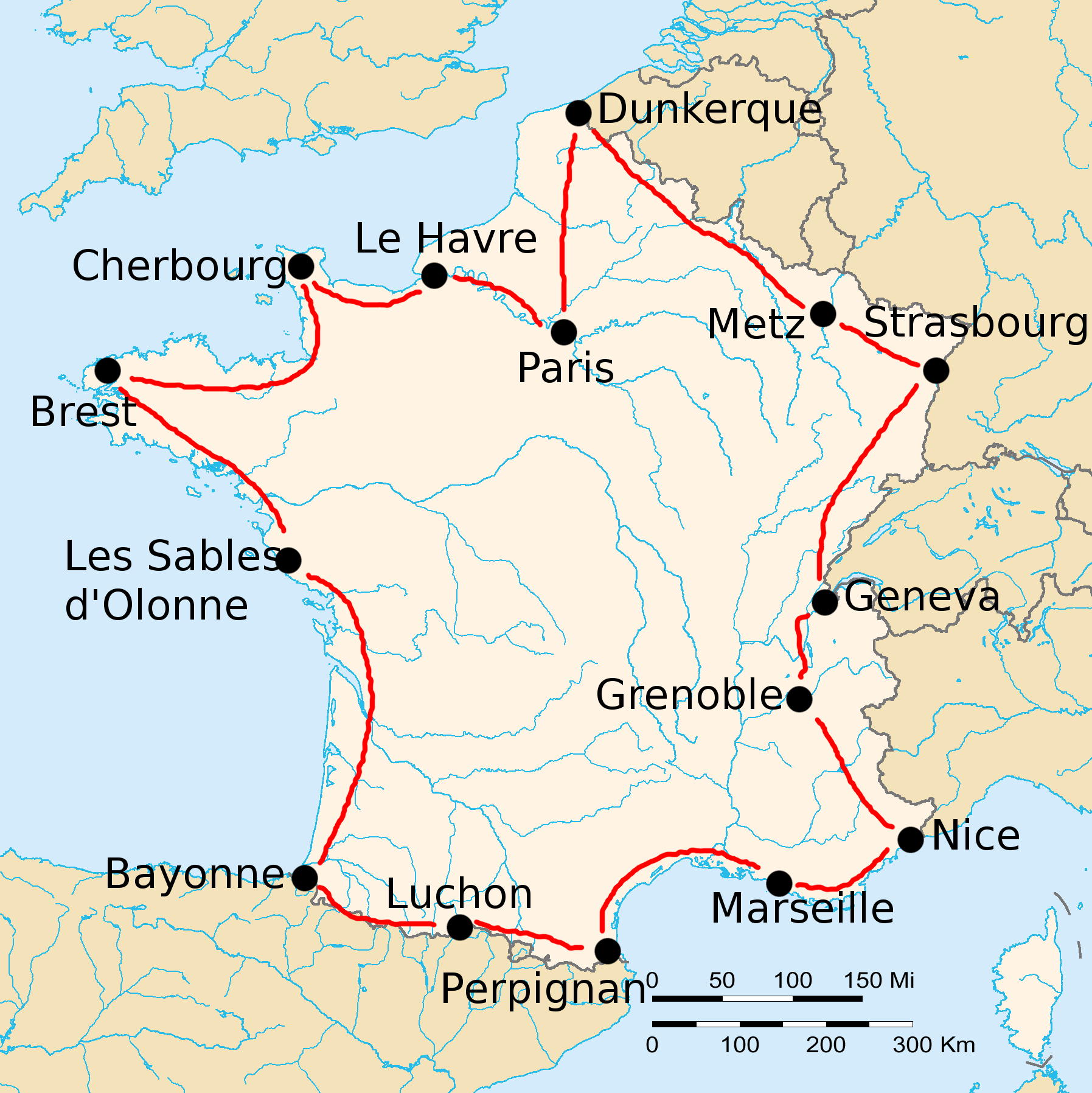 The 1919 Tour de France: 5,500 km in 15 stages