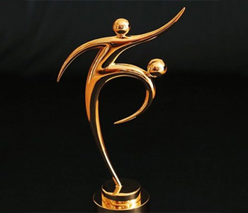 FIFA's fair play trophy at the Russia World Cup