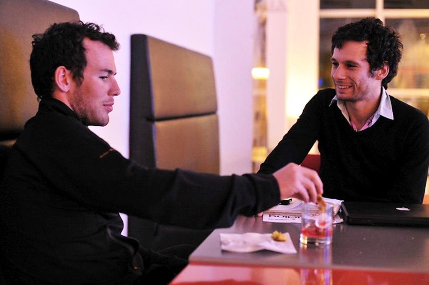Mark Cavendish chats to Daniel Friebe in Palma, Mallorca