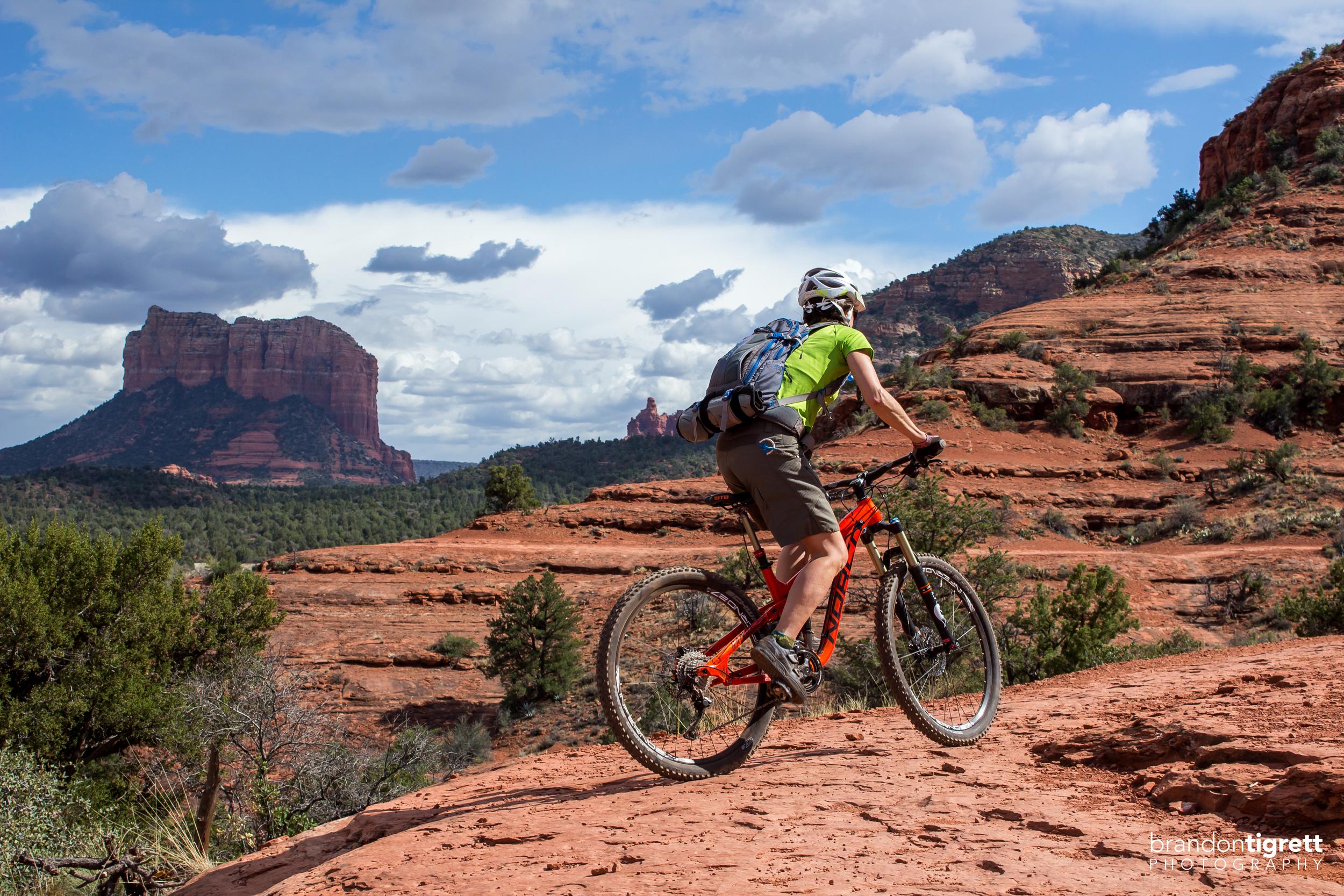 Sedona Cathedral Rock Mountain Biker