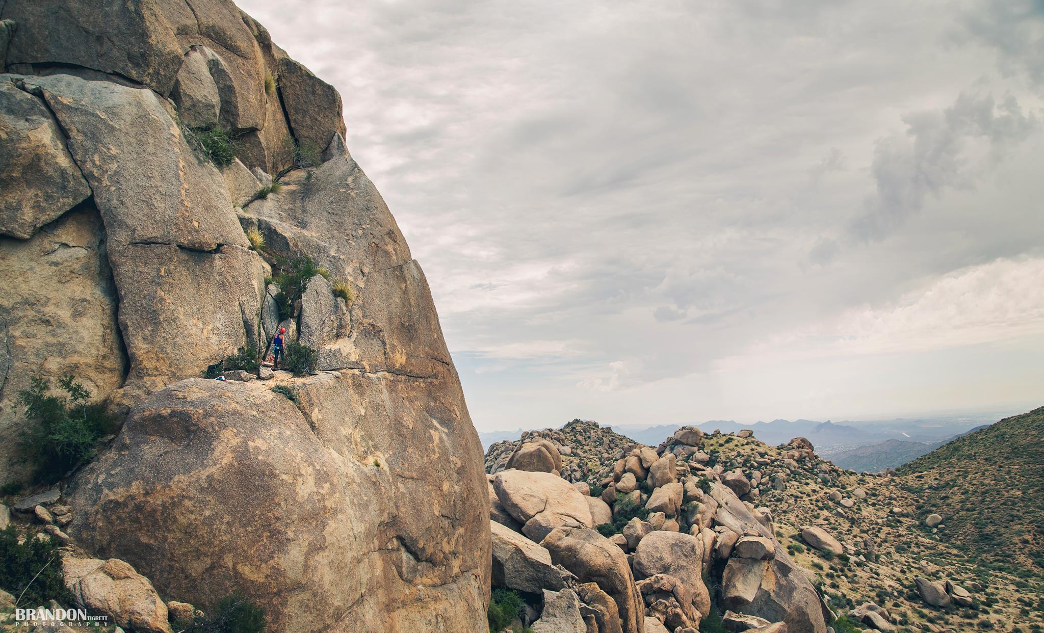 Climber on the edge - belay