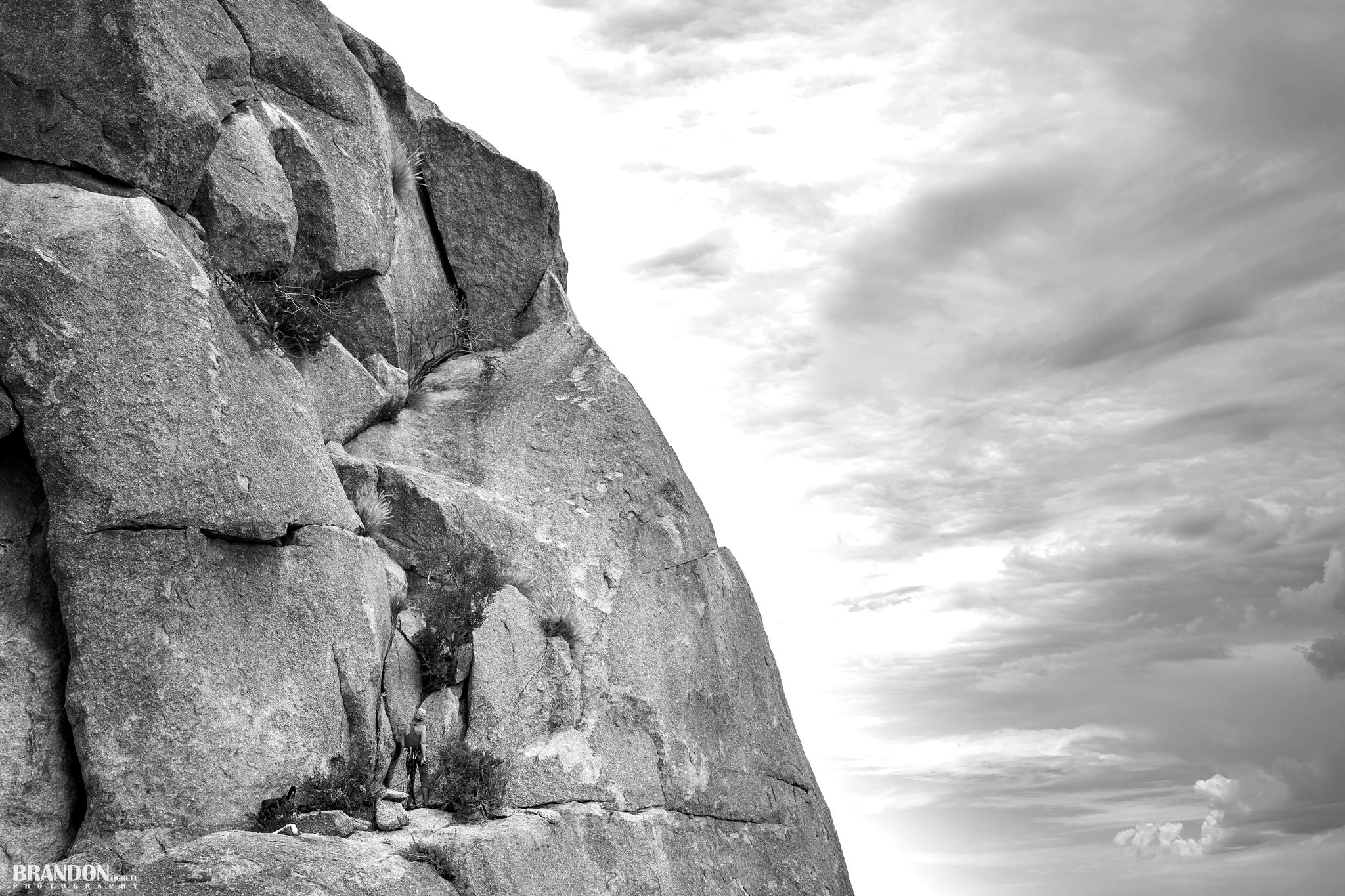 Arizona Rock Climber - Belay - Tom's Thumb