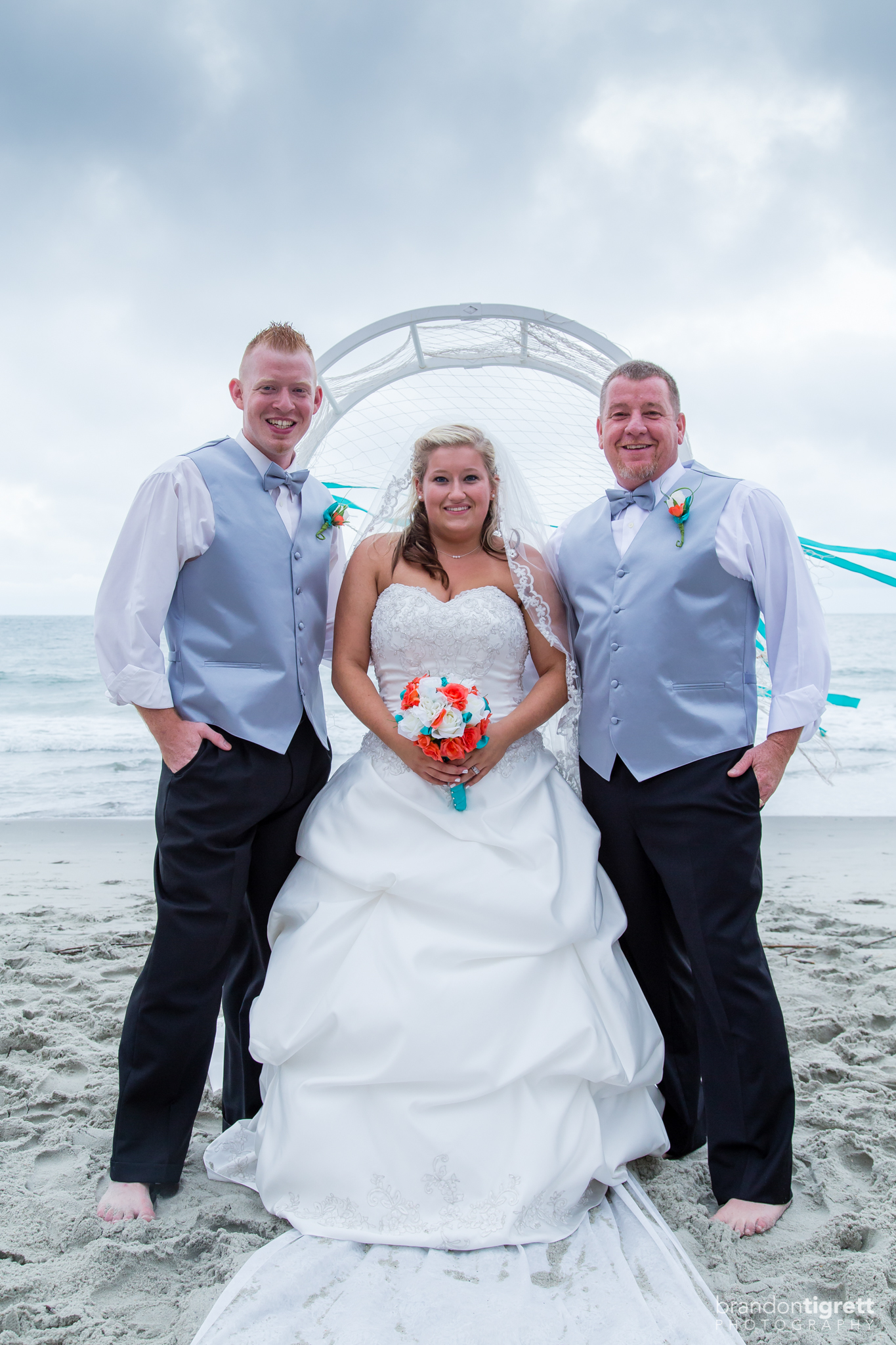 Bride with Grooms Family