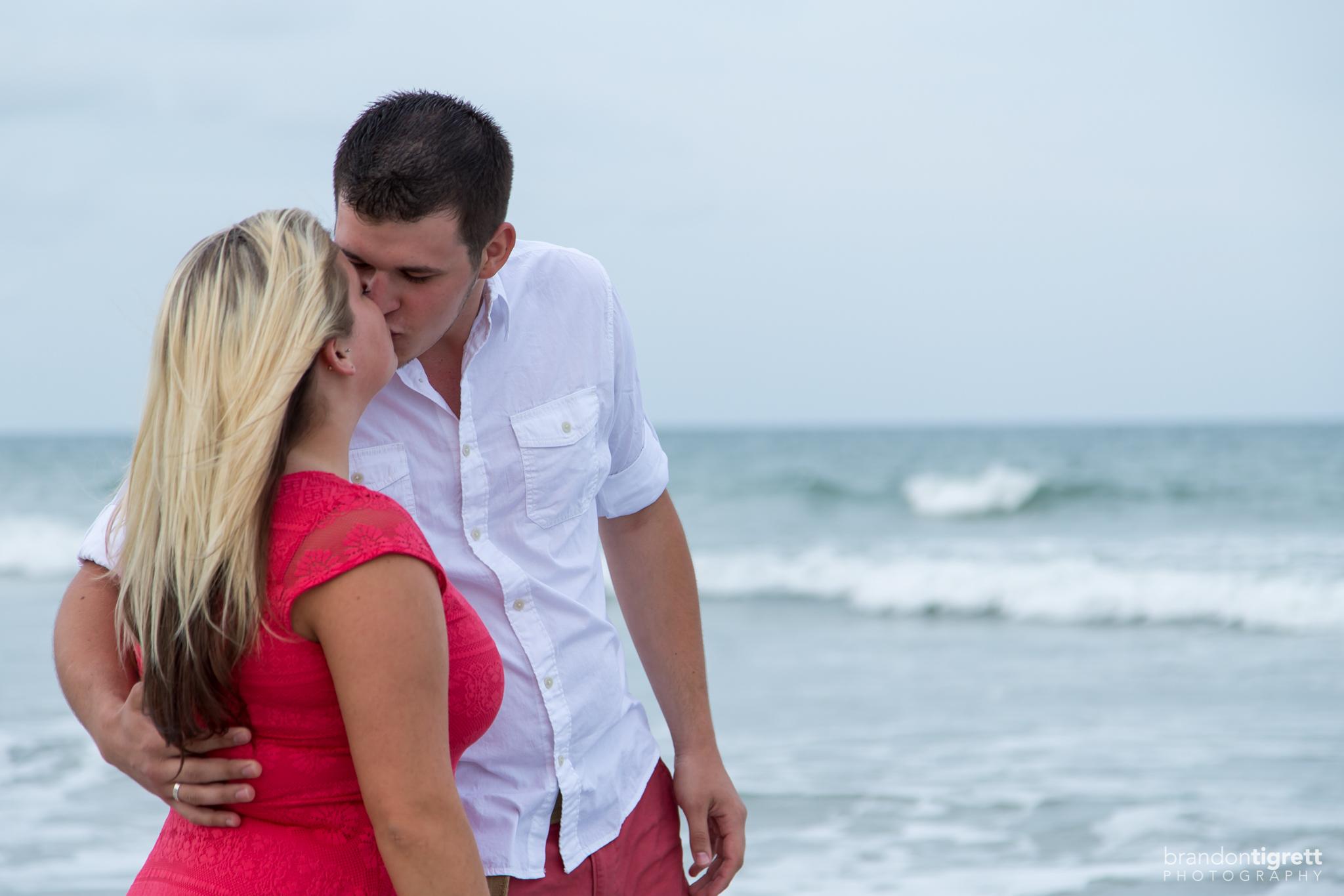 Bride and Groom Kiss
