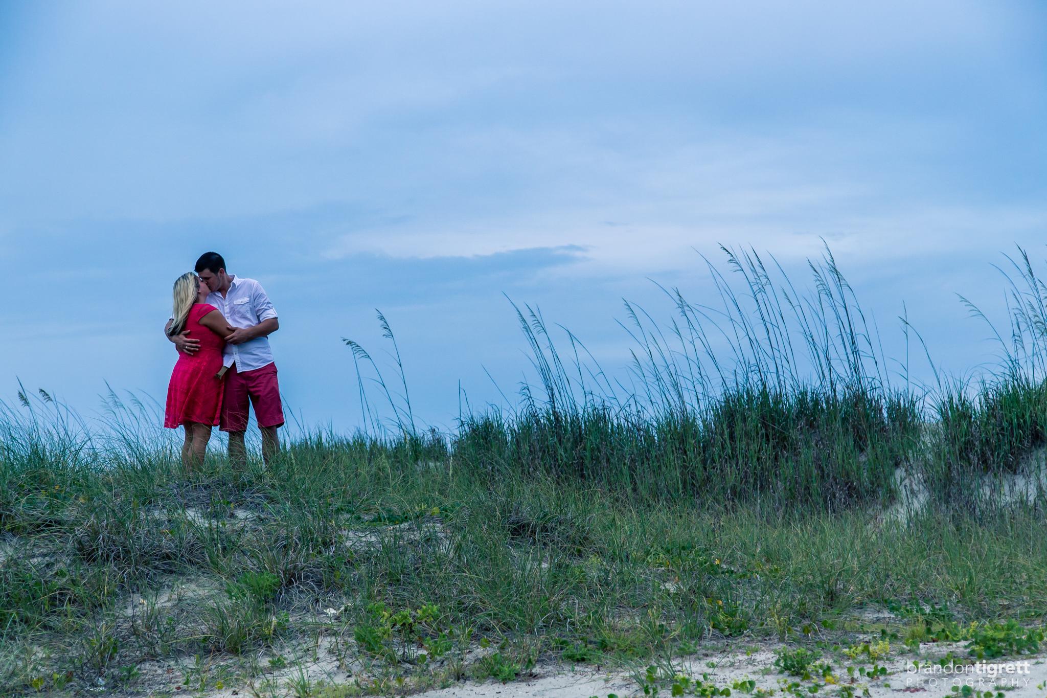 Dramatic beach kiss