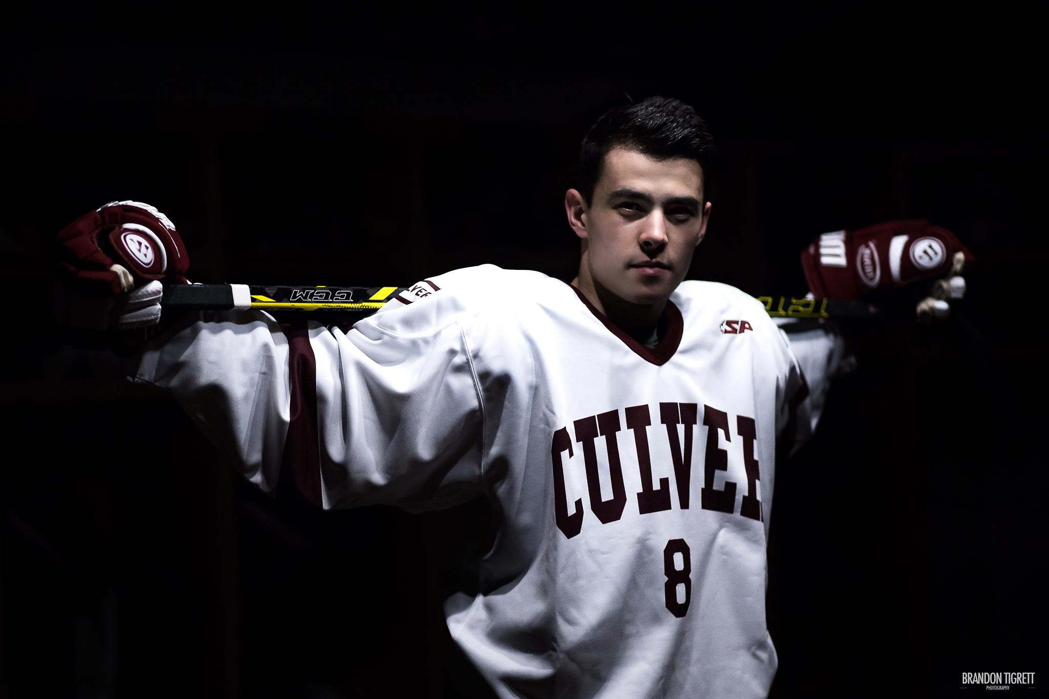 Culver Academy Senior Photos - Hockey - Karch Bachman