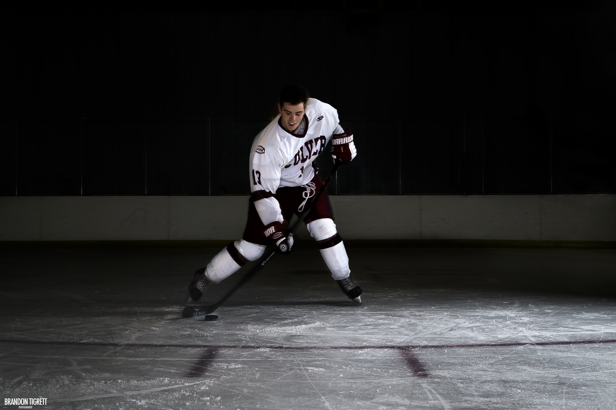 Ice Hockey Action Portrait - Culver Academy