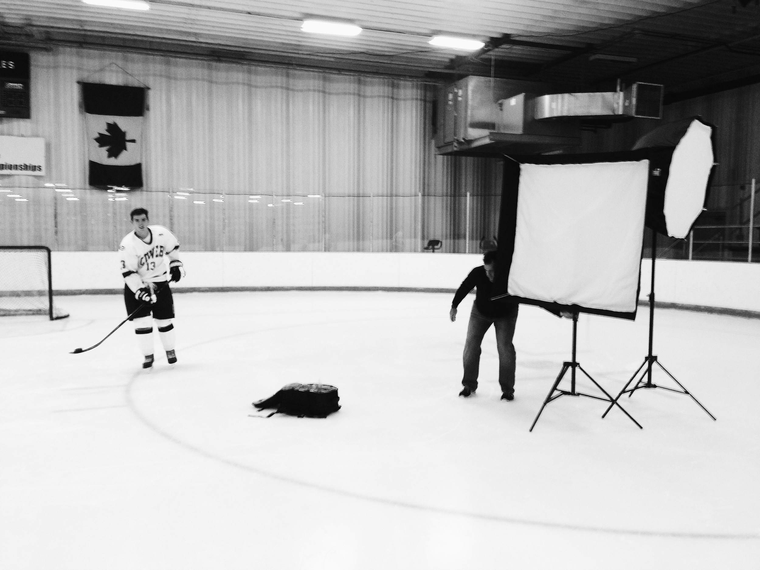 Behind the scenes Ice hockey photoshoot