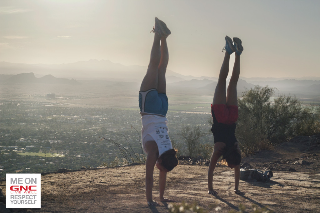 Handstand on Camelback Mountain