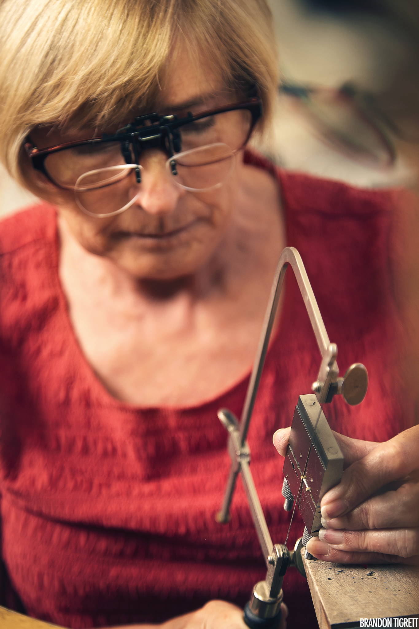 Donna Armstrong Jewelry Artist Working